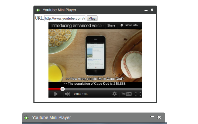 Mini Player Chrome Extension